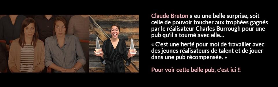 Publicité primée avec Claude Breton Potvin