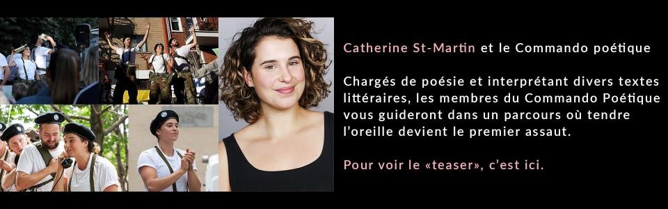 Catherine St-Martin et le Commado poétique