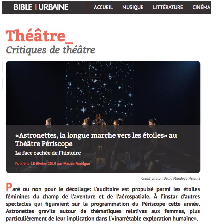 Astronettes - Bible Urbaine Février 2019