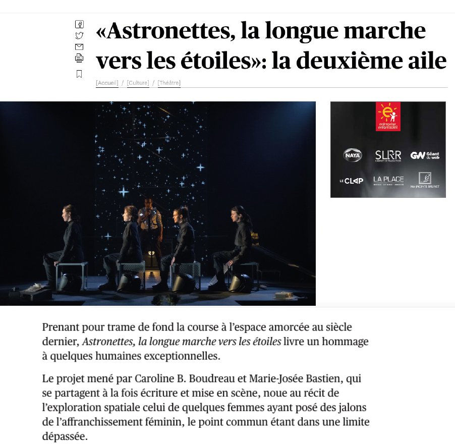 Astronettes - Le Devoir Février 2019